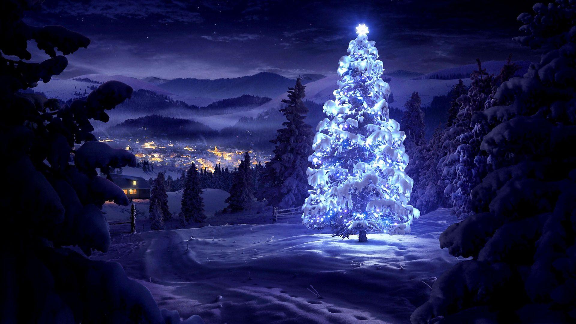 Lights Desktop Background Christmas Tree Wallpaper Photo Christmas Tree Beautiful Christmas Greetings