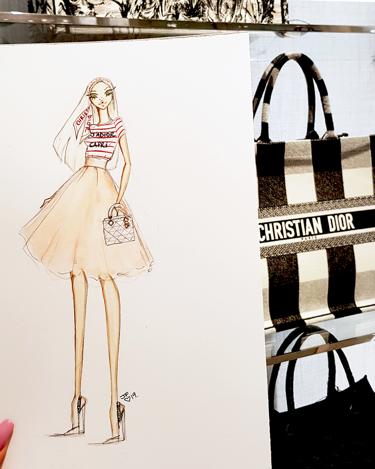 Illustrating Live For Dior At Miami Dadeland Mall Fashion