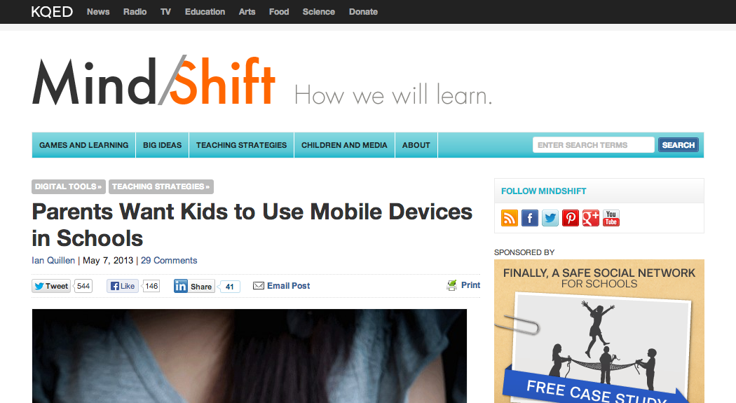 Parents Want Kids to Use Mobile Devices in Schools   MindShift