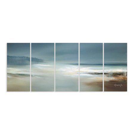 Calm Waters And Cloudy Sky Beach Scene Oversized Canvas Triptych. Calm  WatersBeach Wall ArtCanvas ...