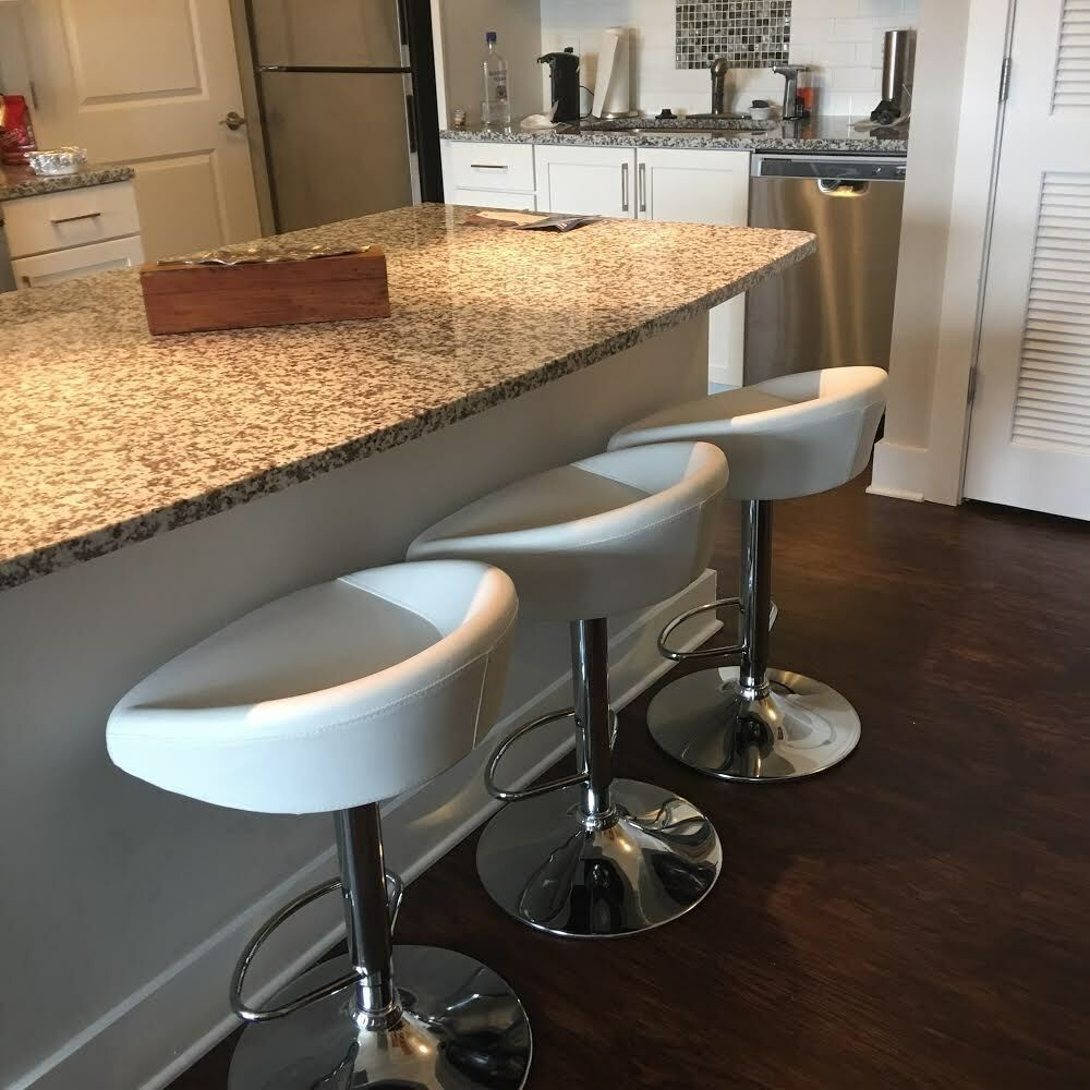 Details About 3 Leather Bar Stools That Swivel With Adjustable