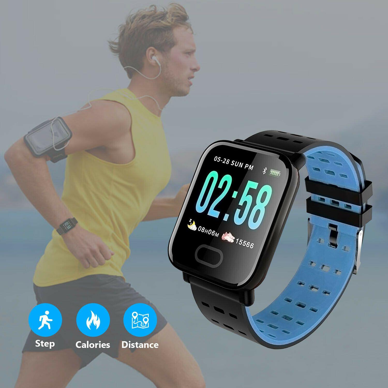 Bluetooth Smart Watch Blood Pressure Heart Rate Monitor Fitness Universal $11.39 #FitnessTrackerBloo...