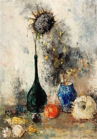 Nature Morte By Jean Jansem Sunflower Art Art Artist