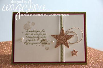 champagner glitzer karten basteln weihnachtskarten. Black Bedroom Furniture Sets. Home Design Ideas