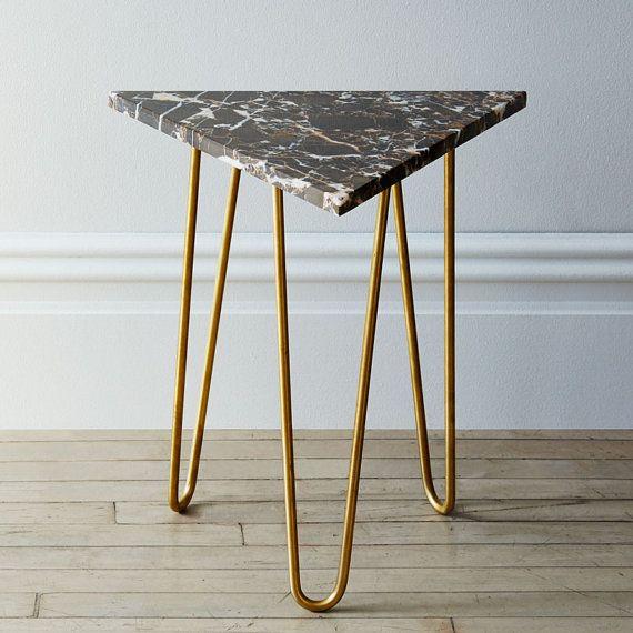 Marble Zelda Table by KatySkelton on Etsy geometric Pinterest