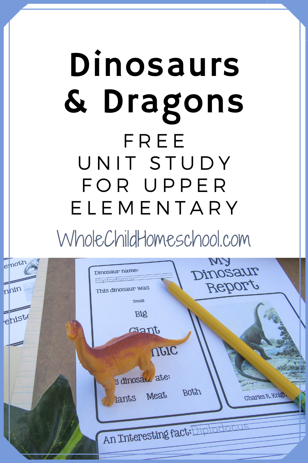 hight resolution of Dinosaurs and Dragons too Family Unit Study   Study unit
