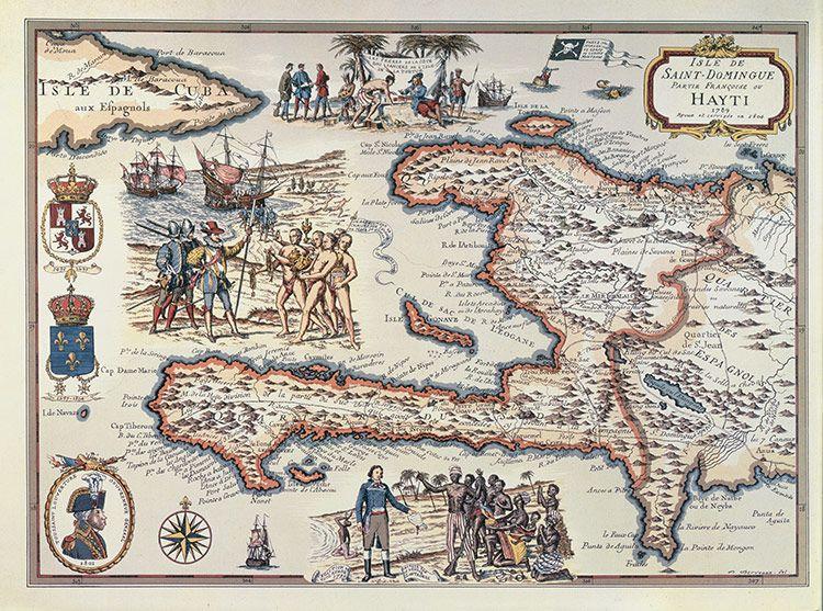 Charted territory: French map of Haiti, 1789 | Trademark art, Map ...