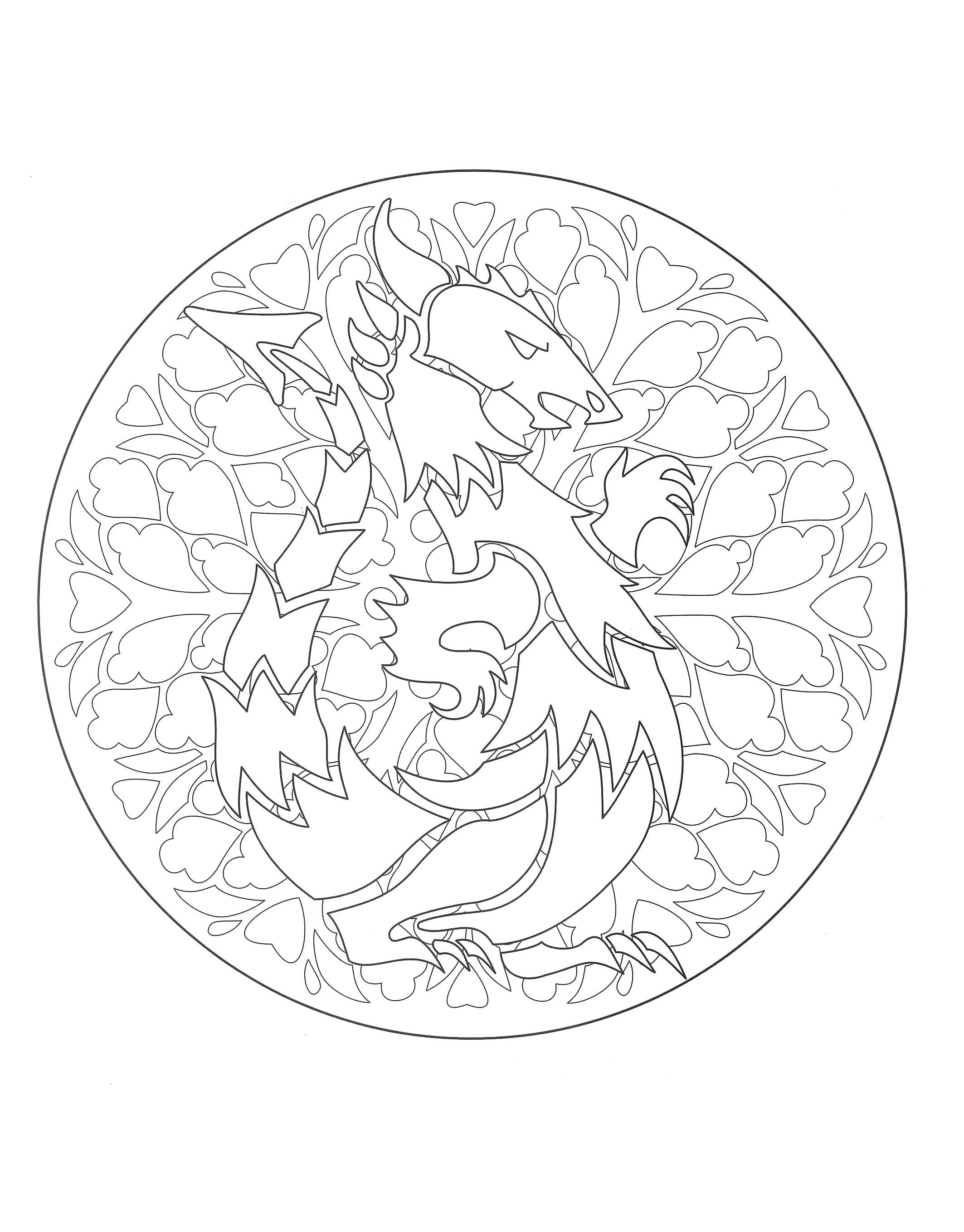 Thanksgiving mandala coloring pages - Free Mandalas Page Coloring To Print Mandala Dragon 1