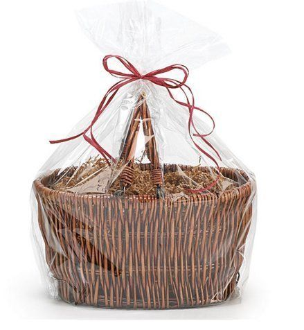 1 x EASTER EGGS HAMPER BASKET Gift Cake CELLOPHANE CELLO DISPLAY BAG With Tie