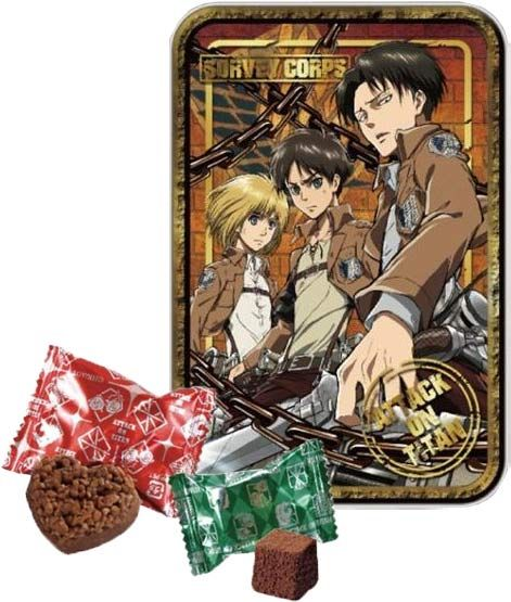 Attack on Titan – 3D Tin with Chocolate $9.50 http://thingsfromjapan.net/attack-titan-3d-tin-chocolate/ #attack on titan chocolate #Japanese chocolate #Japanese snack