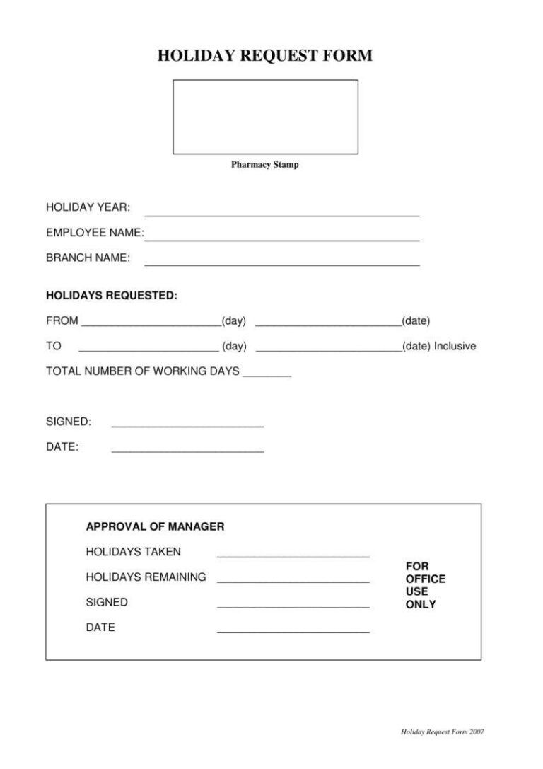 9 Holiday Request Form Templates Pdf Doc In 2020 Quote