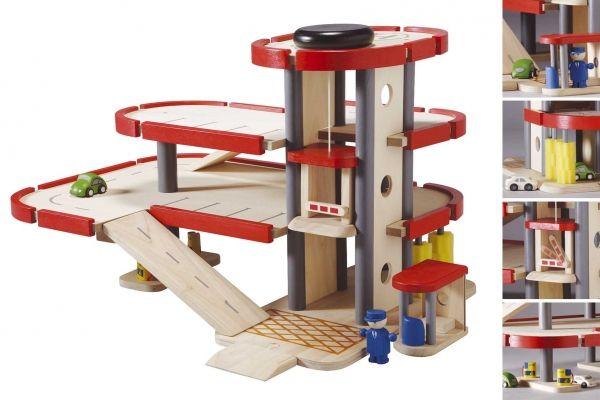 Plan Toys Garage : Garage met lift plan toys krokodil u ac s toys