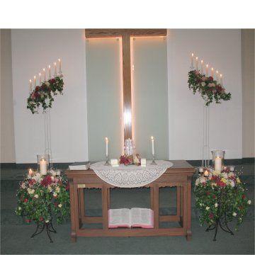 like arrangements on each side of altar table keywords bridalflowers jevelweddingplanning follow us