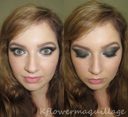 Envious smokey green eyes  #eyes #eyeshadow #nudelips #beautylook - For more beauty looks or to share your check out bellashoot.com