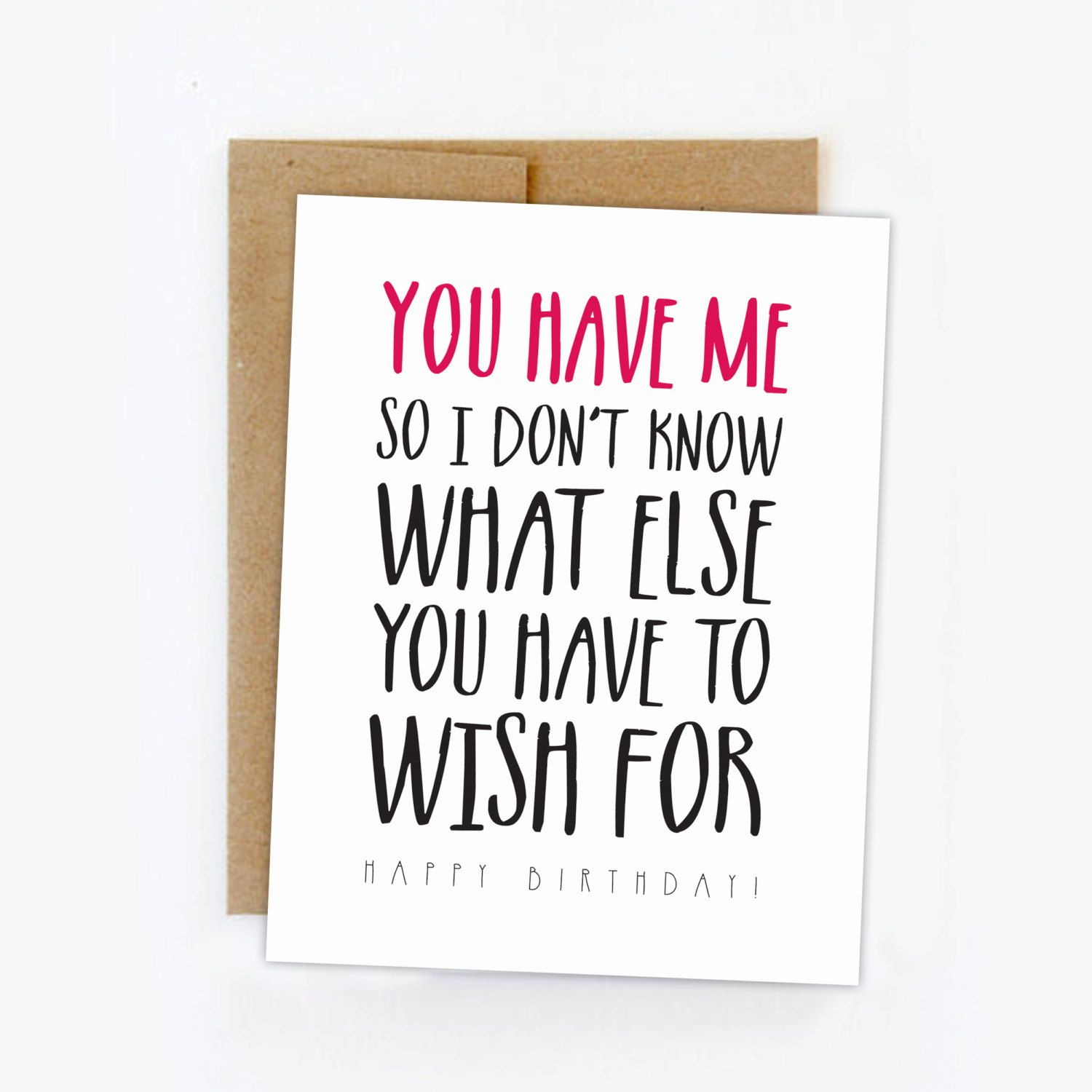 Funny birthday card happy birthday card humorous for What should i do for my boyfriends birthday