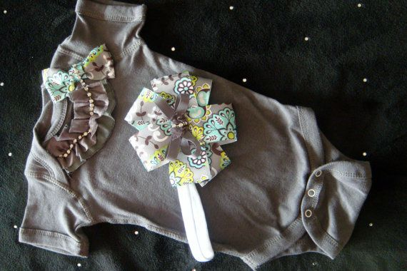 Newborn Baby Girl Take Home Outfit Onesie By