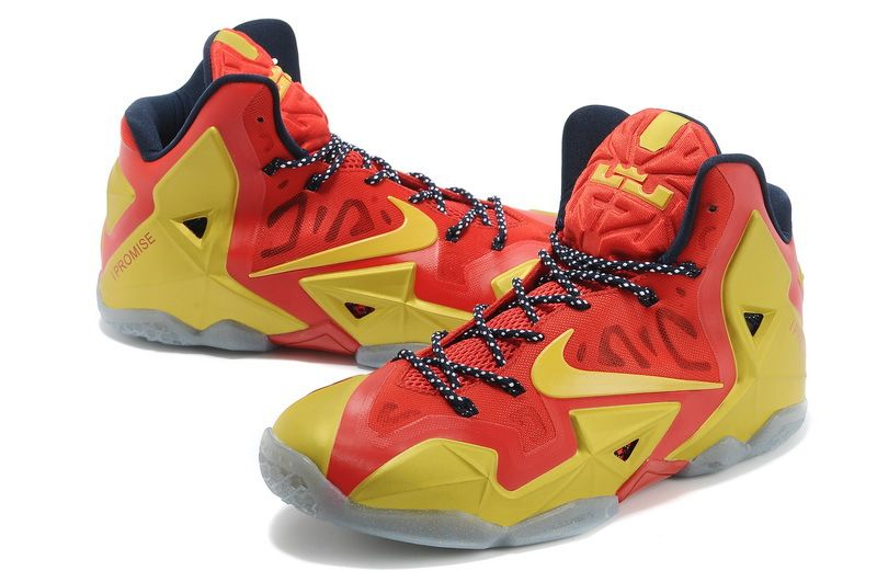Nike Lebron 11 Basketball Champion Shoes For Men Golden Red New [Mens New  Arrived Nike