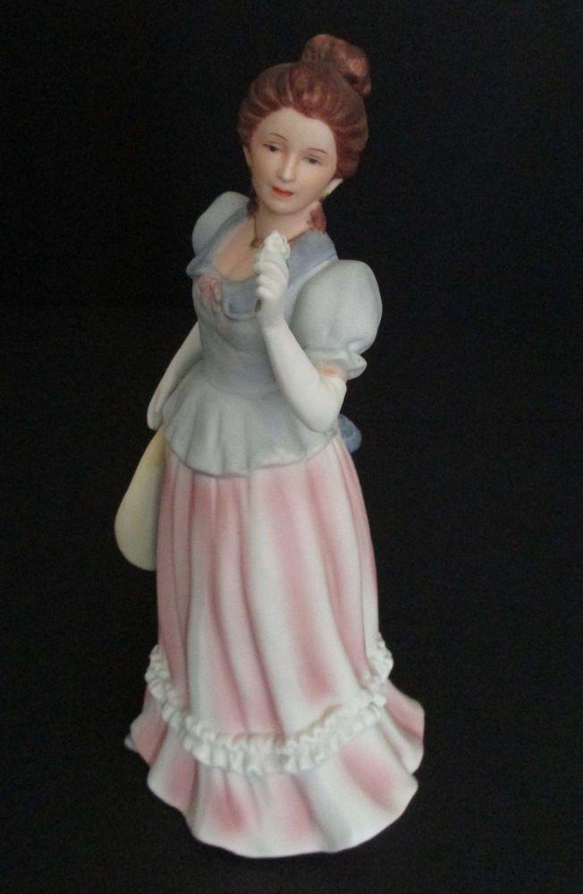 Home interiors homco lady figurine lady camille 1452 porcelain homeinteriorshomco