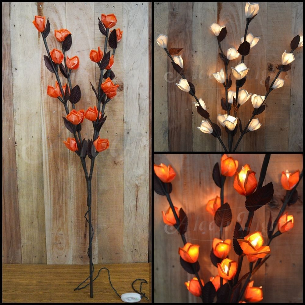 Lichterzweig Rose Lichterketten Dekolampen Lichterbaum Beleuchtung Deko De Flores Luces