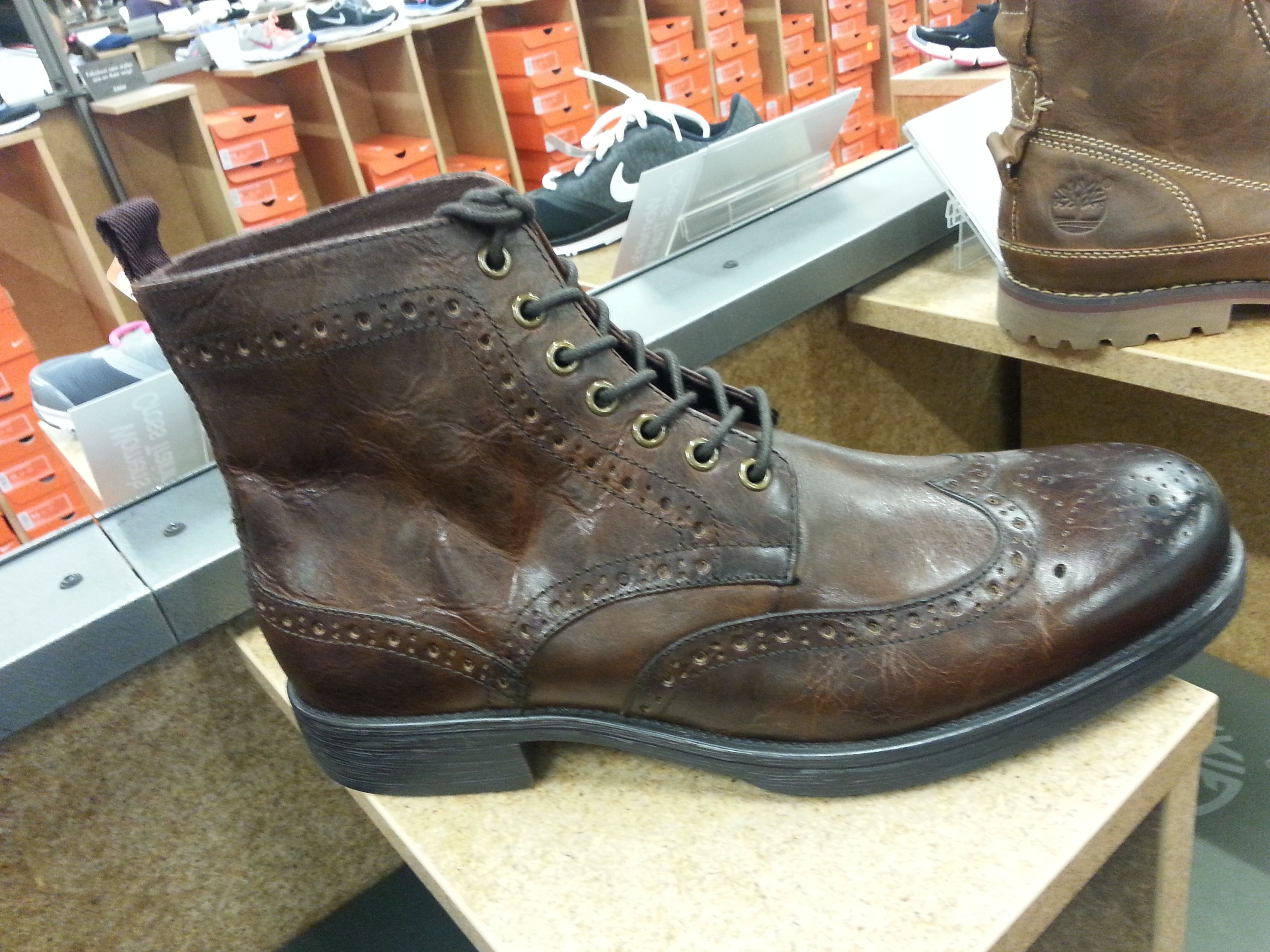High Top Oxford   Boots, Brown shoe, Shoes