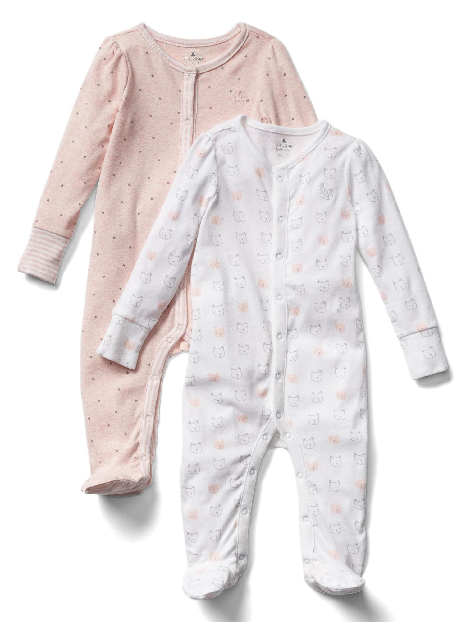 9383dee71246 Gap Baby Favorite Bear Footed One-Piece (2-Pack) - 0-3 M