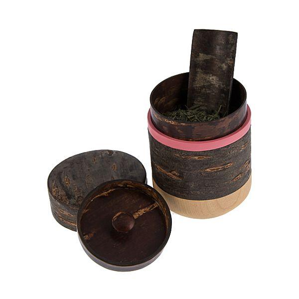 Yatuyanagi - Kirschbaum Teedose   Handgemachtes Geschirr aus Japan