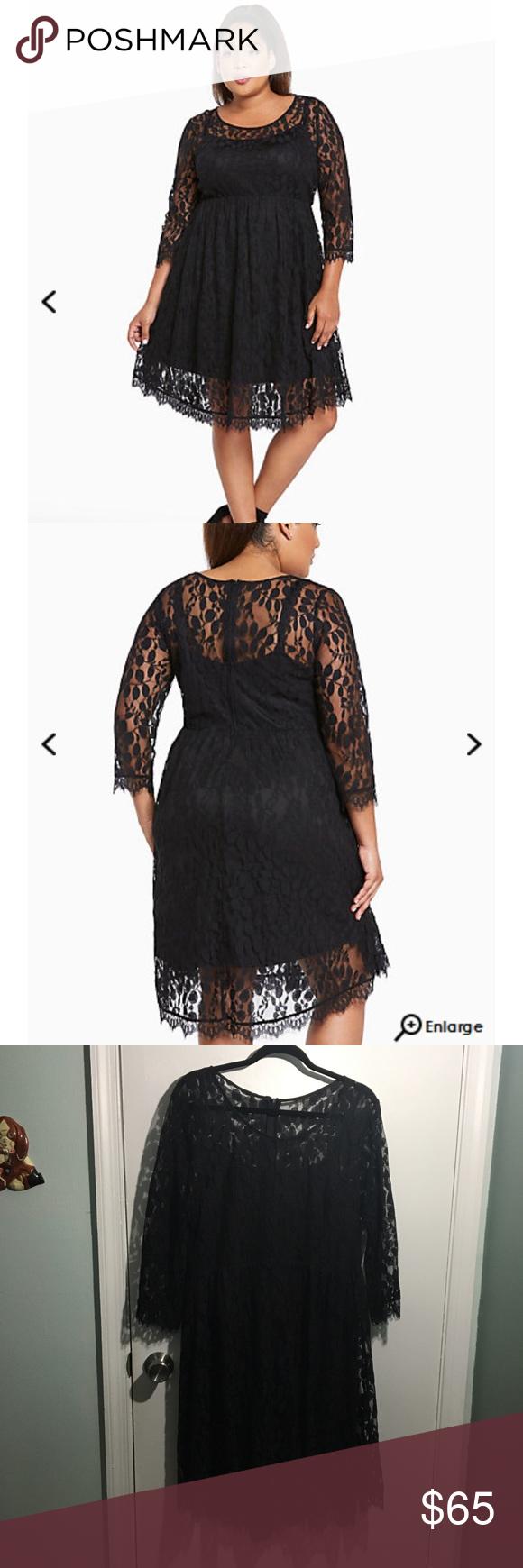 Lace dress torrid  NWOT Torrid Lace Skater Dress  Torrid
