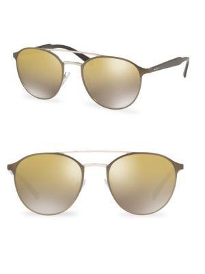 e9d9a6d2c4 PRADA 54MM Mirrored Round Sunglasses.  prada