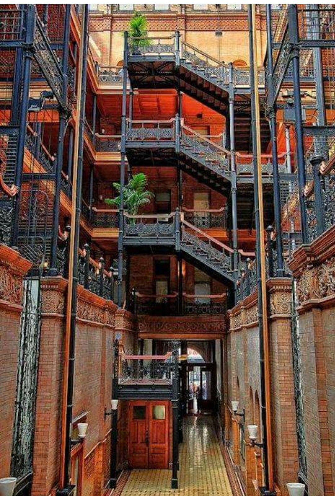 Beautiful Bradbury Building Interior! Los Angeles ...