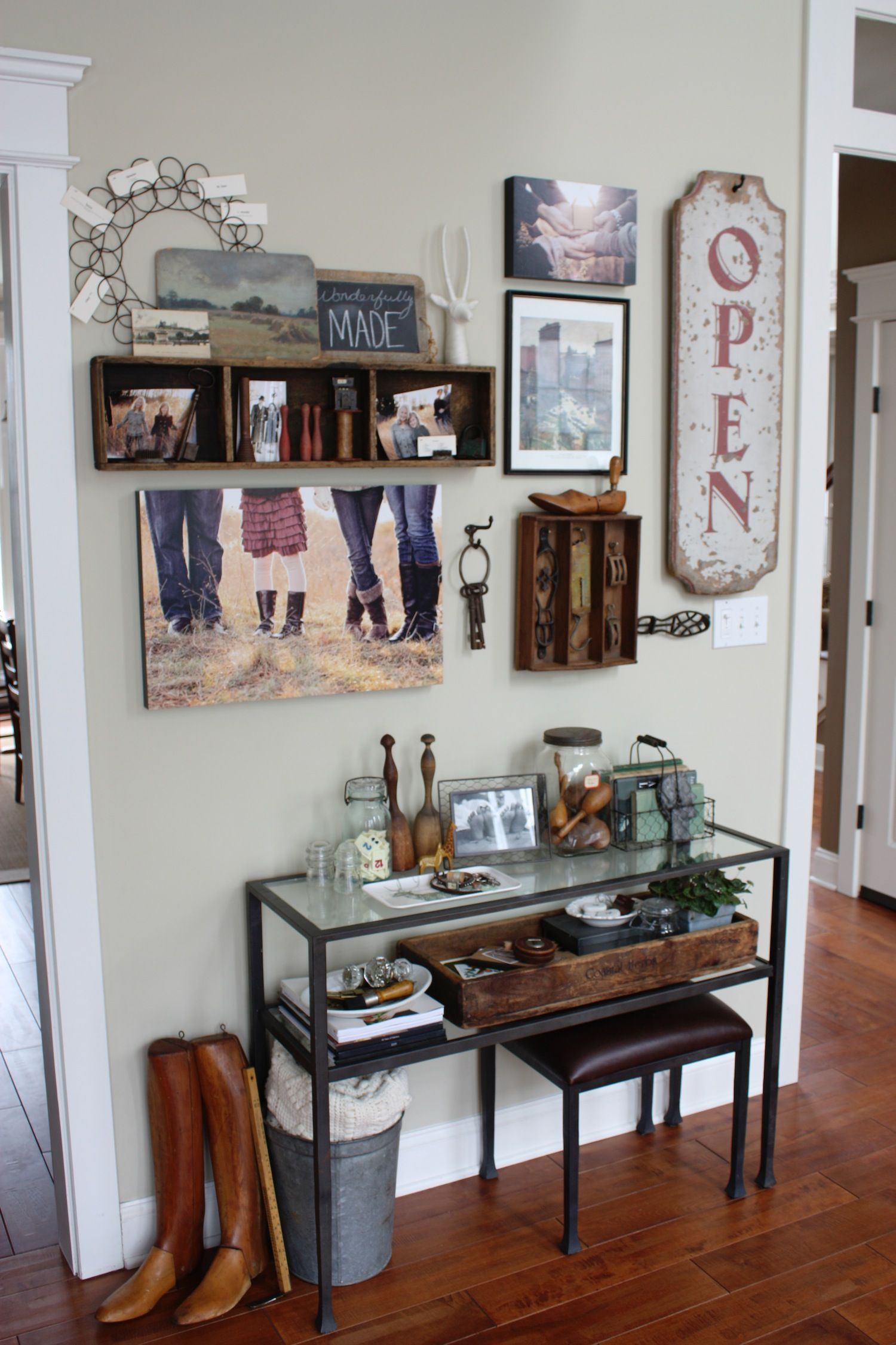 Superior 1cTanner Console Table Vignette And Gallery Wall For Pottery Barn