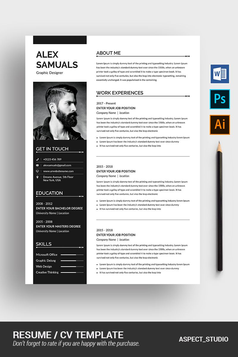 Alex samuals resume template 79182 resume template