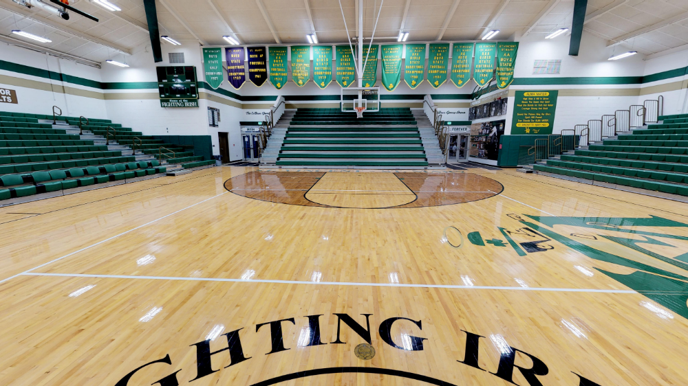 The Lebron James Arena Is The Official Basketball Gymnasium For St Vincent St Mary High School In Akron Ohio During His Youth L Lebron James Lebron Arena