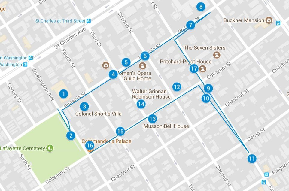 Garden District New Orleans Map What To Do: 3 Days in New Orleans (With images) | Garden district