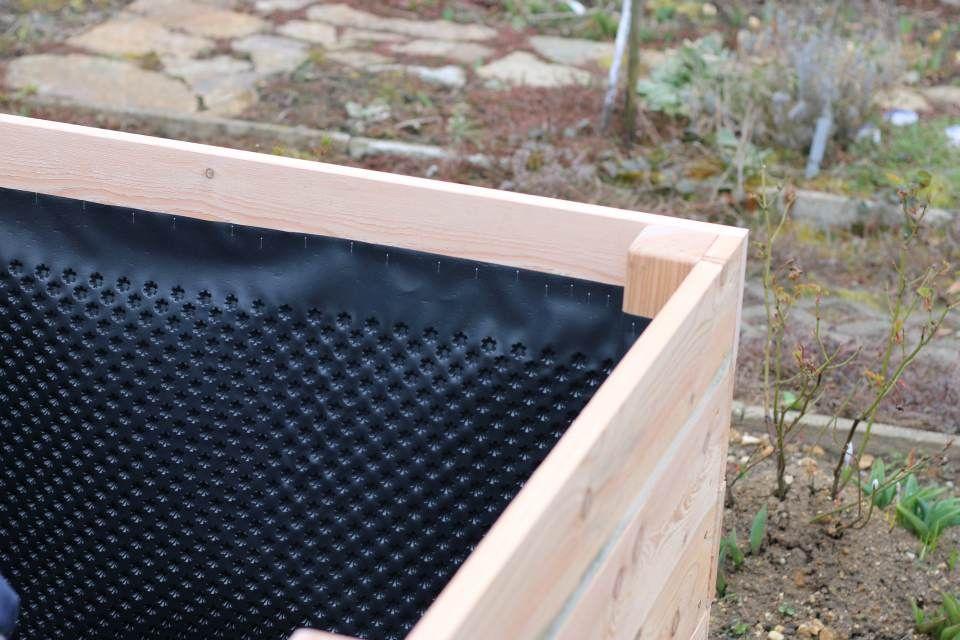 Einfaches Hochbeet Selber Bauen Noppenbahn Abschluss Oben Hochbeet Garten Hochbeet Garten Anpflanzen