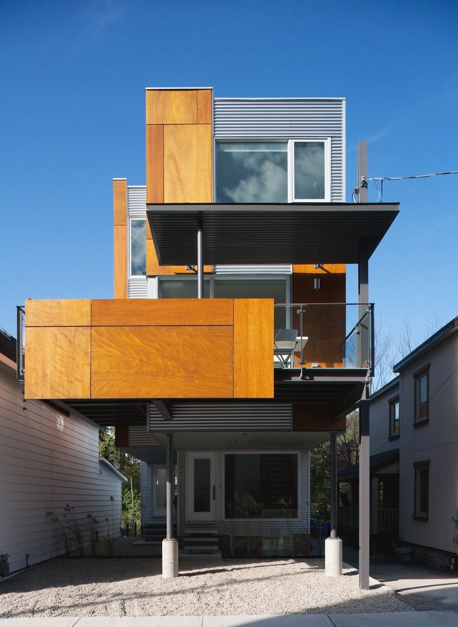 Perfect Front To Back Infill Semi Detached House In Ottawa, Canada, By Colizza  Bruni Architecture. Medley Of Materials Glass Metal Siding Plywood, Small  Vou2026 Design Ideas