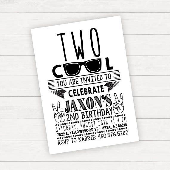Two cool birthday invitation boy birthday invitation 2nd barnett two cool birthday invitation boy birthday invitation 2nd filmwisefo Choice Image