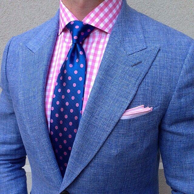 Handkerchief - Semi-solid off-white & navy mix with blue edge Notch bIbenEA