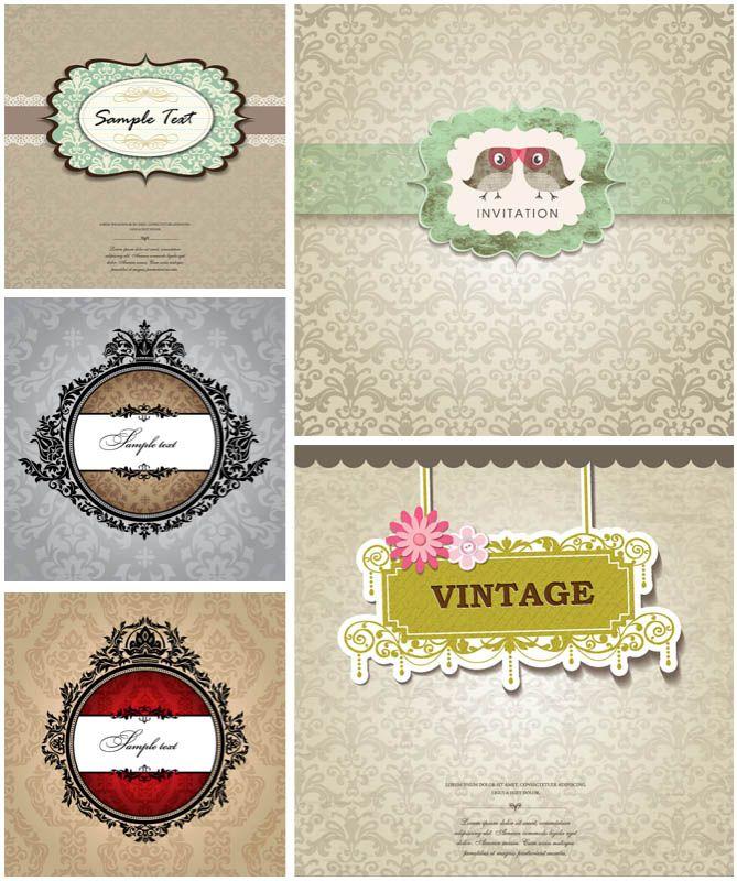 Vector baroque vintage wedding invitations vector free stock vector baroque vintage wedding invitations vector free stock vector art stopboris Images