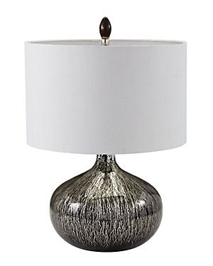 28in Glass Table Lamp