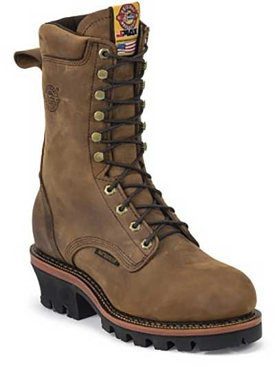 Mens leather boots, Logger boots