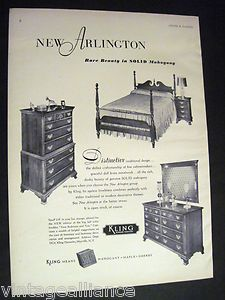 50s Mahogany Arlington Bedroom Furniture By Kling Of Mayville Ny 1952 Print Ad Ebay My Relatives Owned This