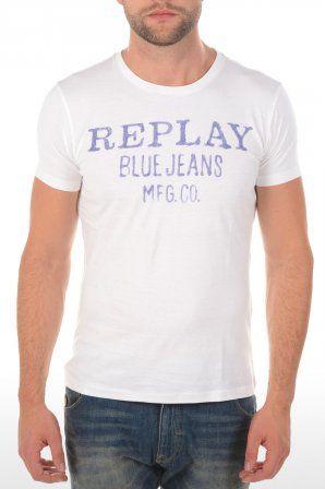 Replay t-shirt M6154 Optical White M6154 2660 0 Optical White » JeansandFashion.com
