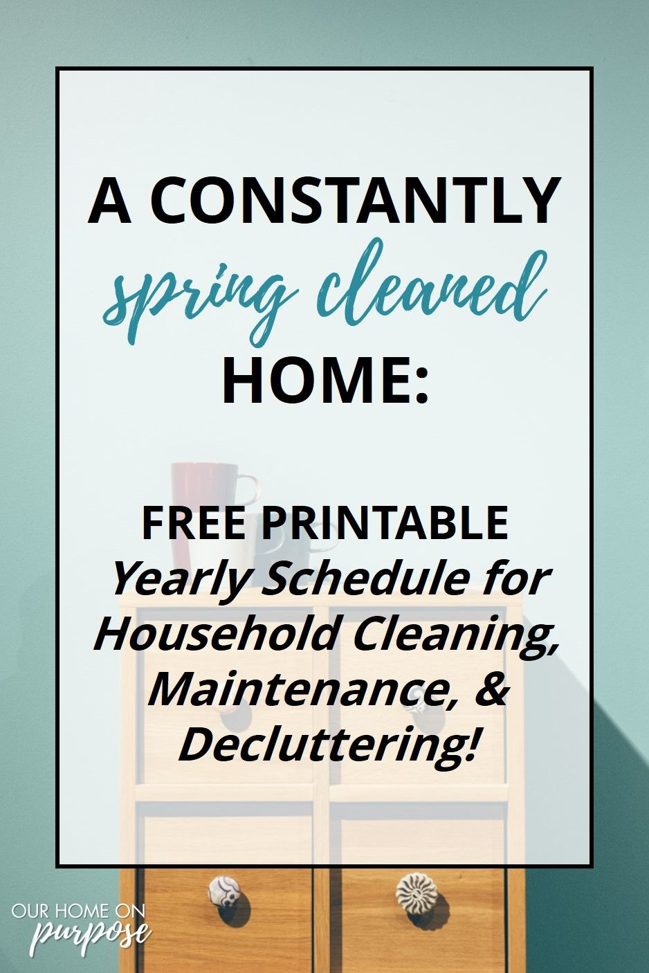 Home Cleaning and Maintenance Annual Checklist & Schedule is part of New home Printable - Ever been overwhelmed by home cleaning and maintenance  Me too  Here's my checklist and schedule FREE that helps me stay calm & keep my home clean )