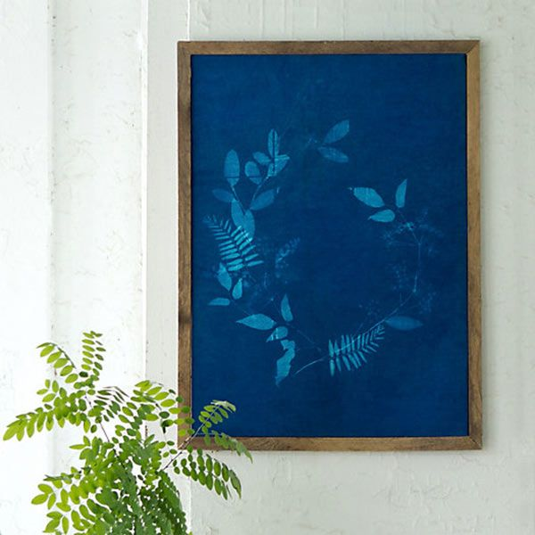 Make beautiful, photographic cotton prints of favorite backyard plants and leaves with this Sun Printing Kit. The printed fabric can be turned into framed art, a table runner, and more. About $48; shopterrain.com