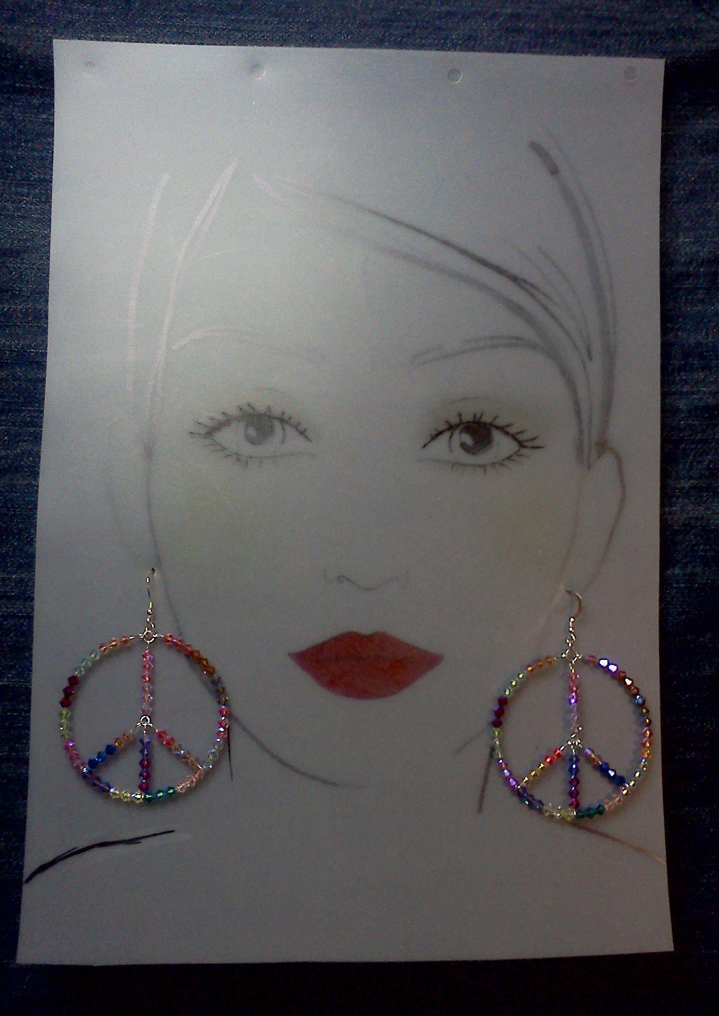 Peace Earrings Sterling Silver Peace Earrings # 112311