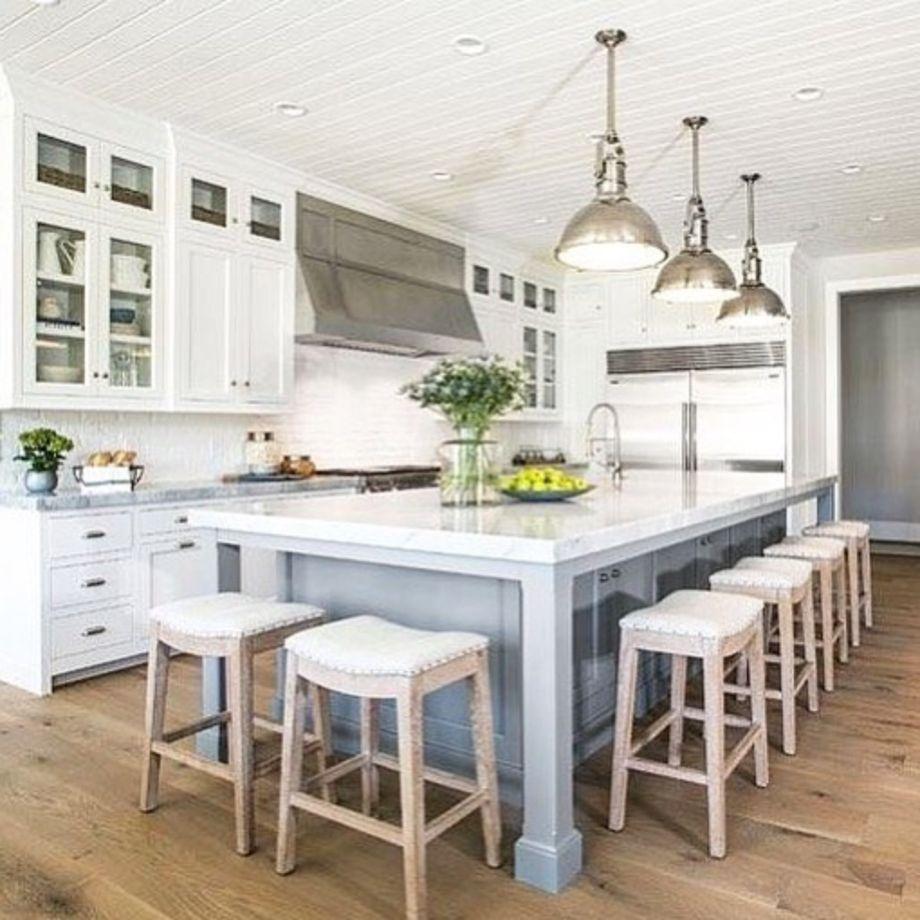 50 Beautiful Hampton Style Kitchen Designs Ideas - ROUNDECOR