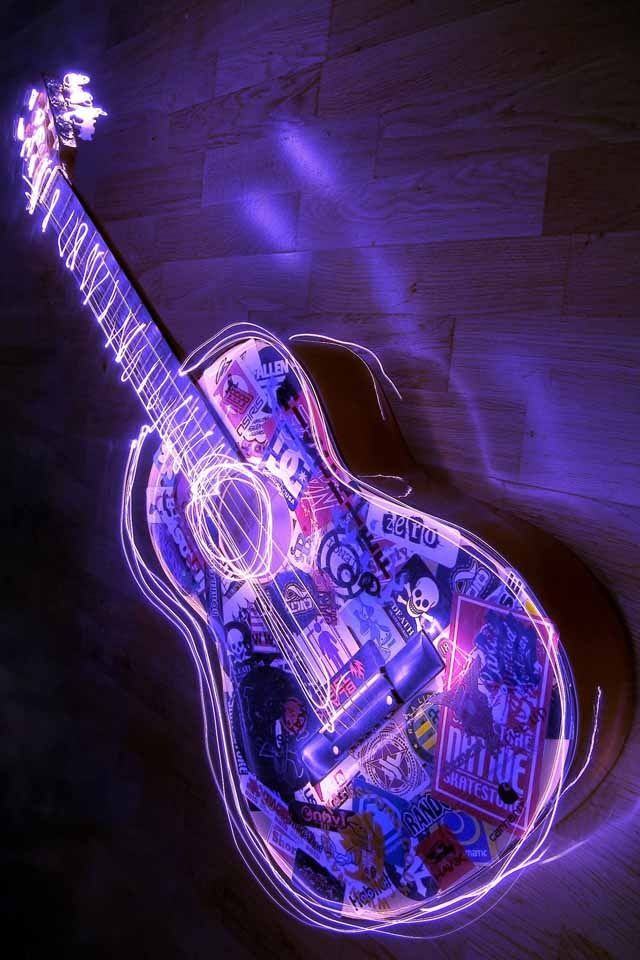 The Coolest Guitar Purple Wallpaper Purple Vibe Violet Aesthetic
