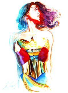 Alex Ross Com Imagens Mulher Maravilha Tatuagem Arte Da