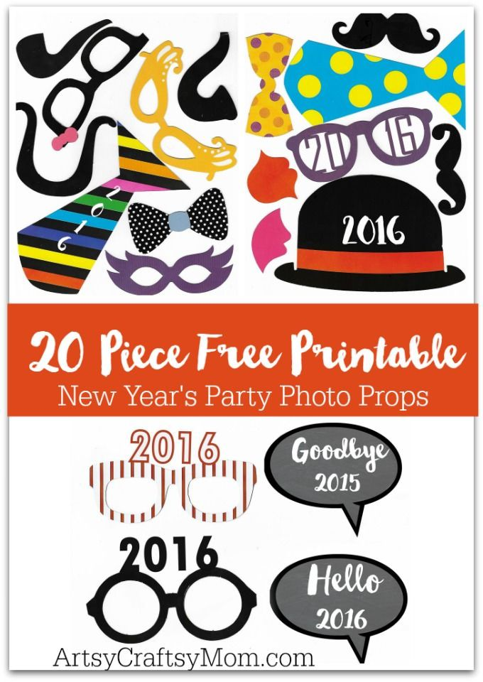 20 free printable new years photo props
