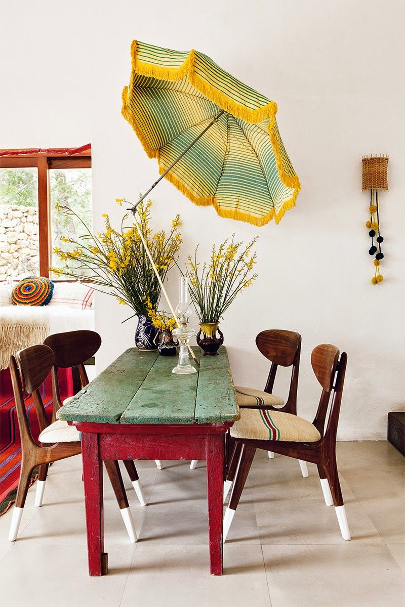 Who knew you could even add a tiki style umbrella to your dining